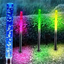 4 x LED SOLAR Farbwechsler Garten Beleuchtung Außen Steck Leuchte Wiesen Lampe