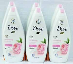 LOT OF 6 DOVE RENEWING BODY WASH WITH PEONY AND ROSE OIL 500 ML/16.9 OZ