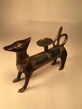 Egyptian AArdvark Bronze Statue Figure Creepy Spooky Candle stand