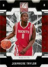 JERMAINE TAYLOR 2009-10 Elite DIE CUT RED /92 Rockets #189