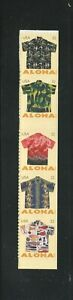 2012 #4682-4686 32¢ Aloha Shirts a strip of 5 Booklet Stamps 4686b from right