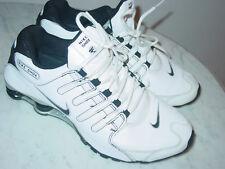 2013 Nike Shox NZ White/Black/Metallic Silver Running Shoes! Size 11 $160.00