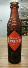 VINTAGE ORANGE CRUSH BROWN RIBBED 7 OZ SODA BOTTLE