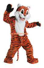 Deluxe Happy Tiger Mascot Costume Cat Cartoon Costume Free Shipping
