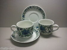 MIDWINTER - Spanish Garden - 2 x TEA CUPS & SAUCERS by Jessie Tait