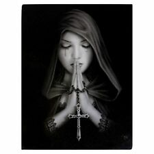 Small Gothic Prayer Canvas Picture by Anne Stokes Spiritual Gothic Gift Wall Art