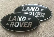 X2 105mm LARGE LAND ROVER FREELANDER 2 FRONT AND REAR BADGES BLACK AND SILVER