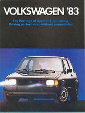 1983 Volkswagen VW FL Brochure Jetta/Scirocco/Vanagon/+