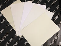 50 Conqueror High White Laid 100gsm A4 Paper / Wedding Stationery/ Free P+P