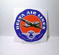 DELTA Airlines Vintage Style Travel Decal / Vinyl Sticker, Luggage Label