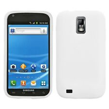White SILICONE Soft Rubber Gel Skin Case Cover T-Mobile Samsung Galaxy S II 2