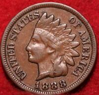 1888  Philadelphia Mint  Indian Head Cent