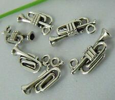 45pcs zinc alloy trumpet charms 18x7mm 1A799