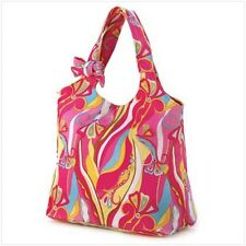 Retro Print Shoulder Tote Large 100% Cotton, Handbag and Multi-Color