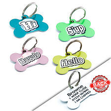 Pet ID Tags - Cute DOG ID Tags - Name Pet Tags For Collars Personalised FREE