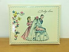 1950'S Vintage Baby Birth Announcement Cards w/Envelopes Sealed Pack Of 6