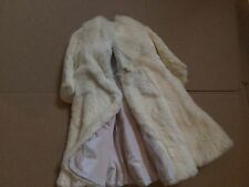 Doll Terri Lee Clothing White Rabbit Fur Long Formal Coat tagged