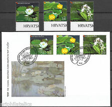 "CROATIA - 2006 MNH ""Flora Of WETLANDS"" Complete Set & First Day Cover (FDC) !!!"