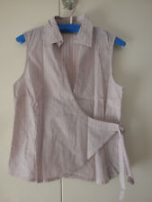 s.Oliver * Bluse * Top * Wickeltop * rosa gestreift * Gr. 40 (M)