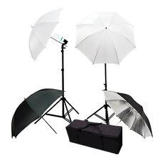 Photography Umbrella 400 watt Continuous Lighting Kit Video Studio Light Stand