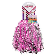 2x Pom Poms Kids Party Cheerleader Blue,Red,Purple and Pink