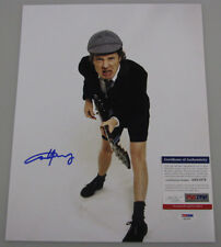 ACDC ANGUS YOUNG  Hand Signed 11'x14' Photo +PSA DNA COA **BUY GENUINE **