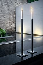 Blomus BARRA Garden Torch for outside, matt stainless steel/aluminium