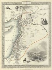 1851 Tallis and Rapkin Map of Syria