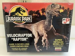 VELOCIRAPTOR RAPTOR Model Kit - Jurassic Park 90's Dinosaur Movie - 1992 New!