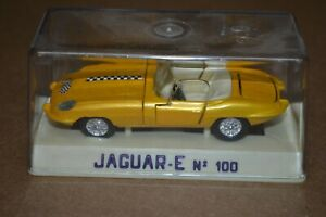 JOAL Minaturas Diecast JAGUAR-E No. 100 Made in Spain Gold Race Edition Checker