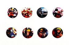 Naruto Shippuden Badges / Naruto, Sai, Gaara, Kakashi, Itachi, Sasuke