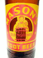 vintage ACL Soda Pop Bottle: brown MASON'S of CHICAGO, ILL - 10  oz ACL Soda