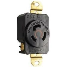 New Pass & Seymour L1020-R Black Turnlock Receptacle