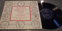 """Haydn Symphony No. 96 in D Major Miracle"" LP ISOLA DISABITATA WALTER GOEHR"