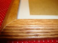 """Solid Oak Decorative Photo Frame Holds 5"""" x 7"""" Picture Heavy Nice Quality    356"""
