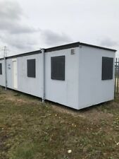 Jack Leg Portakabin Pacemaker 33ft x 9ft IDEAL FOR SALES OFFICE Grey/White Cabin