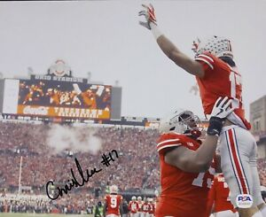 Chris Olave Signed Autographed Ohio State Buckeyes 8x10 Photo Champs Psa/Dna