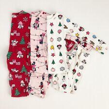 Baby Gap 4T Christmas Pajamas Minnie Mickey Fairies Lot Of 3 Sets