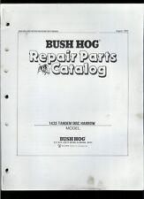 Bush Hog 1435 Tandem Disc Harrow Rare Original Factory Illustrated Parts List