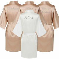 Bridesmaid Champagne Satin Wedding Bride Tribe Team Robe Mother Dressing Gown