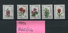 TURCHIA-TURKEY 1984 serie fiori di campo 2440-44 MNH