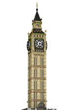CUSTOM LEGO BUILDING Big Ben London. Westminster. Clock tower SIZE:38 inches!!!