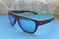 NWOT Oakley Polarized Breadbox Sunglasses Matte Black / Custom Blue Iridium Lens