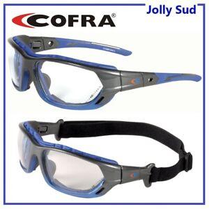 Occhiali Protettivi di Protezione con Elastico Lenti Trasparenti COFRA da Lavoro