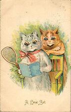 1907 louis wain - a love set ! galander post card number 298