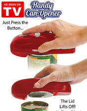 As Seen On TV Handy Can Opener Red Automatic One Touch Hands Free Easy To Use