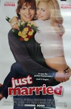 Just Married Original Double Sided Movie Poster Brittany Murphy Ashton Kutcher