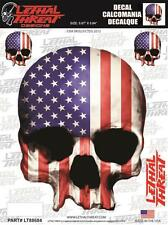 Lethal Threat Moto Vélo ordinateur de bord PC Autocollant Sticker USA SKULL LT88684