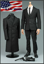 1/6 James Bond Agent Coat Suit Set For PHICEN Hot Toys Male Figure ❶USA❶