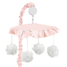 Chic Pink Sweet Jojo Floral Vintage Lace Girl Baby Nursery Musical Crib Mobile